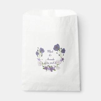 Lila Orchideen-Lavendel-Blumewreath-Hochzeit Geschenktütchen