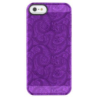 Lila Paisley Durchsichtige iPhone SE/5/5s Hülle