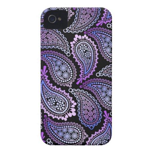 Lila Paisley iPhone 4/4S Kasten iPhone 4 Case-Mate Hüllen
