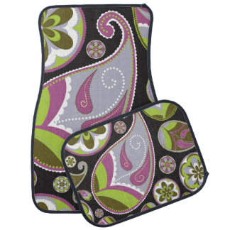 Lila Paisley-Muster Autofußmatte