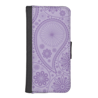 Lila Paisley-Muster iPhone SE/5/5s Geldbeutel