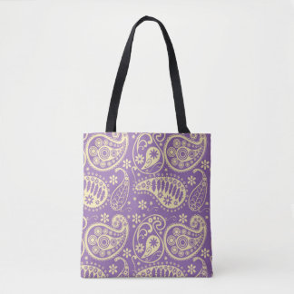 Lila Paisley-Muster Tasche