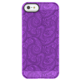 Lila Paisley Permafrost® iPhone SE/5/5s Hülle