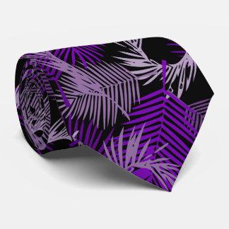 Lila Palmblatt-Muster Individuelle Krawatten