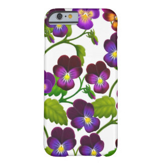 Lila Pansy-Garten-Blumen iPhone 6 Kasten Barely There iPhone 6 Hülle