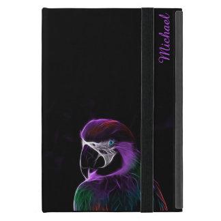 Lila Papageien-Fraktal Digital Etui Fürs iPad Mini