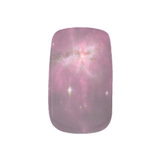 Lila Pastellgalaxie-Nagel-Kunst Minx Nagelkunst