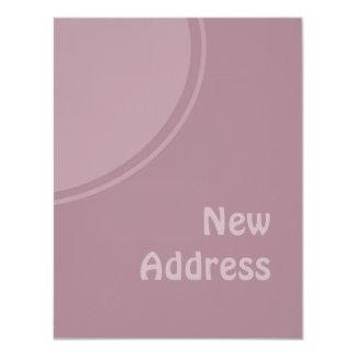 lila PastellMod neue Adresse 10,8 X 14 Cm Einladungskarte