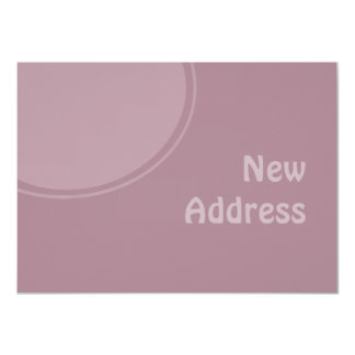 lila PastellMod neue Adresse 11,4 X 15,9 Cm Einladungskarte