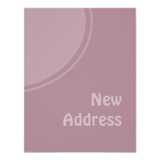lila PastellMod neue Adresse Individuelle Ankündigskarten