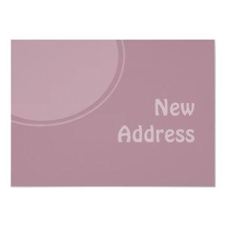lila PastellMod neue Adresse Ankündigungskarten