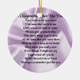 Lila   Patin-Gedicht Keramik Ornament