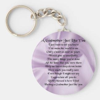 Lila   Patin-Gedicht Schlüsselanhänger