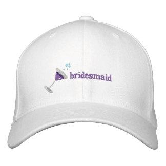 Lila personalisierter gestickter Hut Martinis