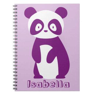 Lila personalisiertes Notizbuch des Spiral Notizblock