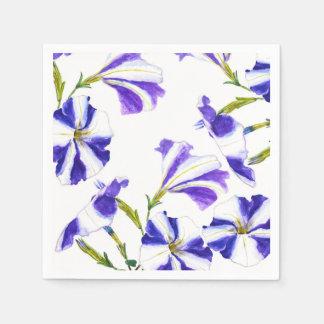 lila Petunie-Blumenmalerei Serviette