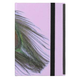 Lila Pfau-Feder auf Flieder Etui Fürs iPad Mini