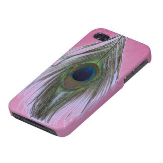 Lila Pfau-Feder auf Flieder Hülle Fürs iPhone 4
