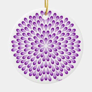 Lila PfauMandala Keramik Ornament