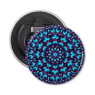 Lila Pfeifer-Kaleidoskop-magnetische Runder Flaschenöffner