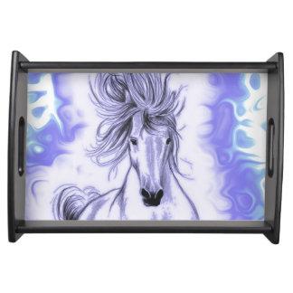 Lila Pferd Serviertablett