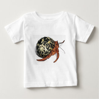 Lila Pincher Einsiedler-Krabben-Entwurf Baby T-shirt