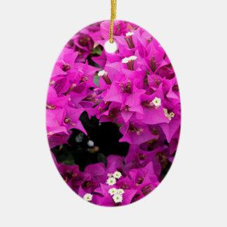 Lila pinkfarbener Bouganvilla-Hintergrund Keramik Ornament