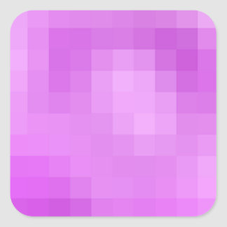Lila Pixel-Aufkleber Quadratischer Aufkleber