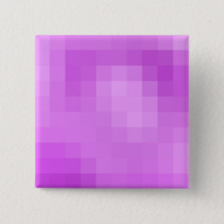 Lila Pixel-Knopf Quadratischer Button 5,1 Cm
