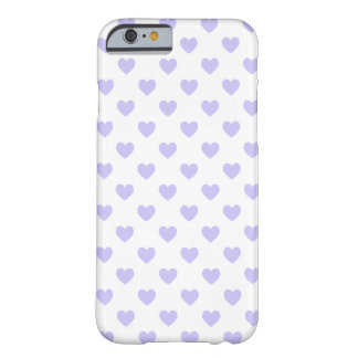 Lila Polka-Punkt-Herzen Barely There iPhone 6 Hülle