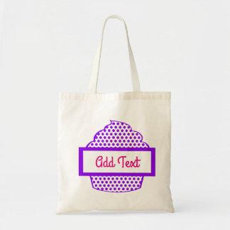 Lila Polka-Punkt-Kuchen-Tasche Tragetasche