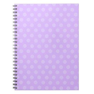Lila Polka-Punkt-Notizbuch Notizblock