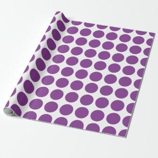 Lila Polka-Punkt-Verpackungs-Papier Geschenkpapier