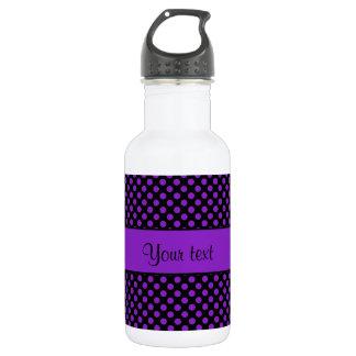 Lila Polka-Punkte Trinkflasche