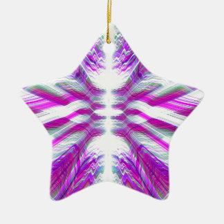 Lila psychedelisches Muster Keramik Ornament