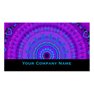 Lila PsycheMandalakaleidoskop Geschäfts-Karten Visitenkarte