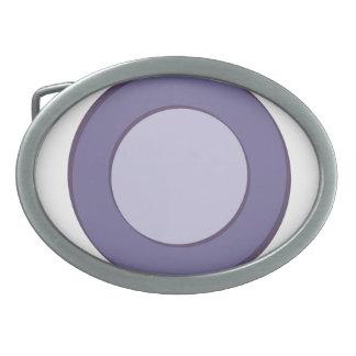 Lila Punkt Ovale Gürtelschnallen