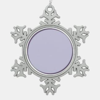 Lila Punkt Schneeflocken Zinn-Ornament