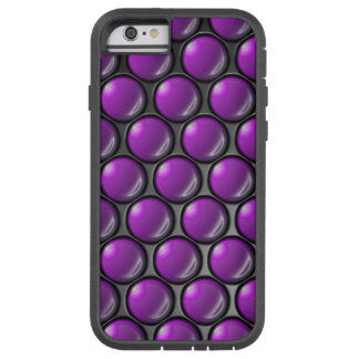 Lila Punkte Tough Xtreme iPhone 6 Hülle