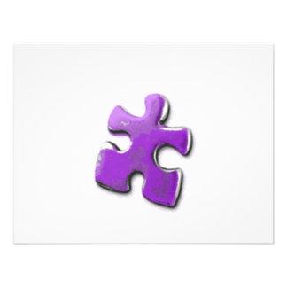 Lila Puzzlespiel Ein Entwurf auch für Personalisierte Einladungskarten