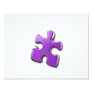 Lila Puzzlespiel! Ein Entwurf auch für 10,8 X 14 Cm Einladungskarte