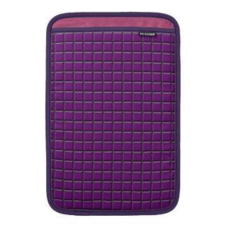 "Lila Quadrate MacBook Luft 11"" Hülse MacBook Sleeve"
