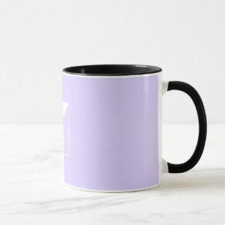 Lila quadratische Tasse