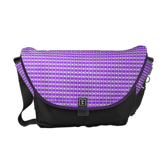Lila Rauten-Druck-Bote-Tasche Kuriertaschen