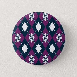Lila Rauten-Muster-Knopf Runder Button 5,7 Cm