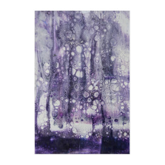 Lila Regen Acryldruck
