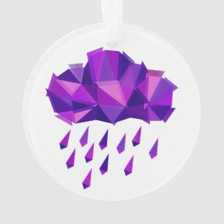 Lila Regen-Zeitgenosse-Geometrie Ornament