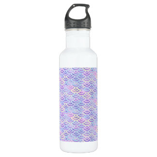 Lila Regenbogen-Meerjungfrau-Pastell-Muster Trinkflasche