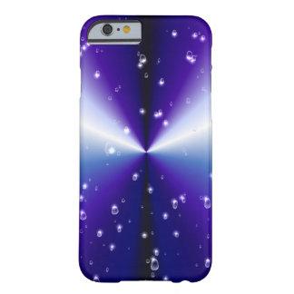 Lila Regenbogen mit Regentropfen und Sternen Barely There iPhone 6 Hülle