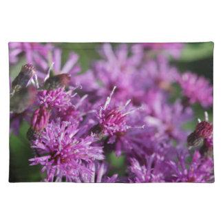 Lila riesige Ironweed-Wildblumen Tischset